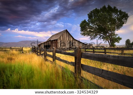 Old abandoned ranch and barn