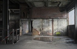 old abandoned room in factory in germany