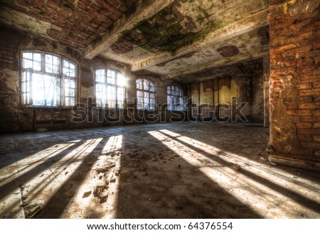 Old abandoned room in HDR technique