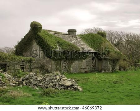 Old abandoned stone house