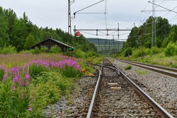 Old abandoned train station in the north of Sweden
