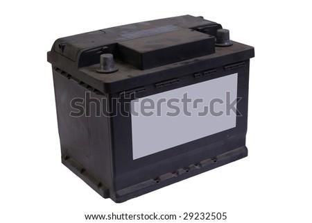 old accumulator isolated on white background