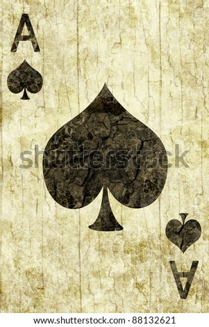 Old ace of spades playing card