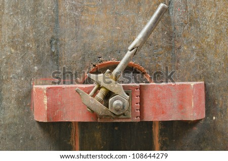 old adjustable wrench - stock photo