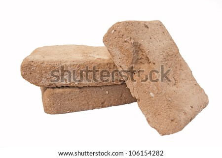 Old adobe bricks - used and recyclable building materials