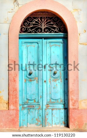 old aged doorway