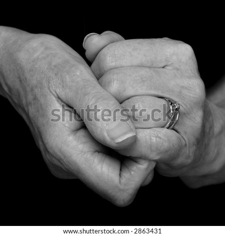 old ageing female hands, memories