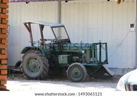 Old agricultural machinery - tractor