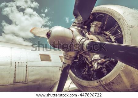 Old aircraft close up #447896722