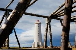 Old Akranes Lighthouse just north of Reykjavik, Iceland