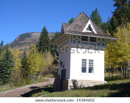 """Old Alpine """"hose-house"""" at Cleveholm Manor, Redstone , Colorado"""