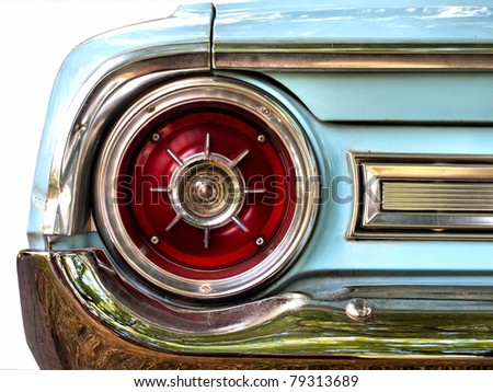 Old American car, tail light detail / Oldtimer/ Classic Vintage car/ Vintage car / Old car / Automobile/  Ford Galaxie 500