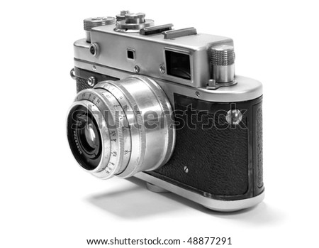 old analog russian photo camera.