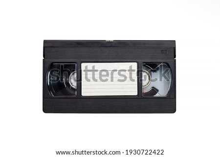 Old analog tape VHS cassette. Retro nostalgia. Vintage gone down in history. Сток-фото ©