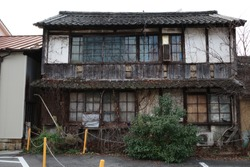 Old and beautiful building in Kasaoka City, Okayama Prefecture, Japan