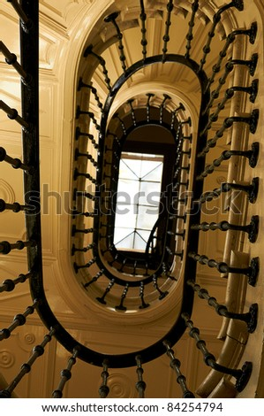 Old and classic stairs - stock photo
