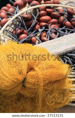 Old and colorful fishing gear