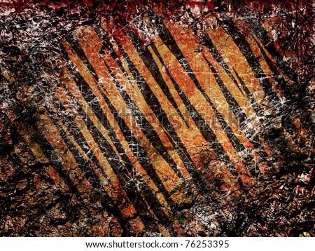 Old and dirt grunge tiger skin background