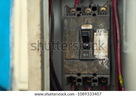 Old fuse box Images and Stock Photos - Page: 7 - Avopix.com Old Fuse Box Trip Switch on