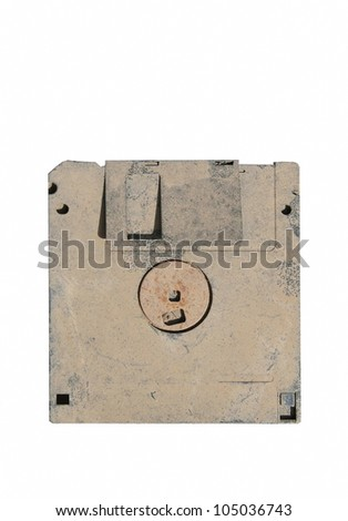 old and dirty floppy disk