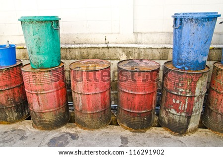 Old and dirty fuel tank - stock photo