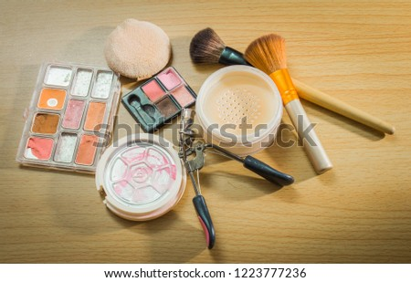 Old and expired cosmetics.