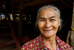 Old and friendly Woman from Vietnam