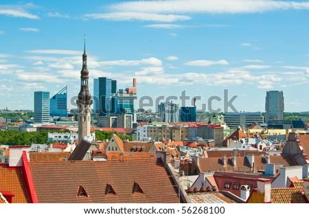 Old and modern Tallinn architecture