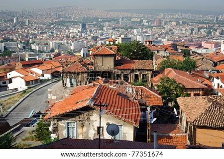 Old and new city of Ankara, capital of Turkey
