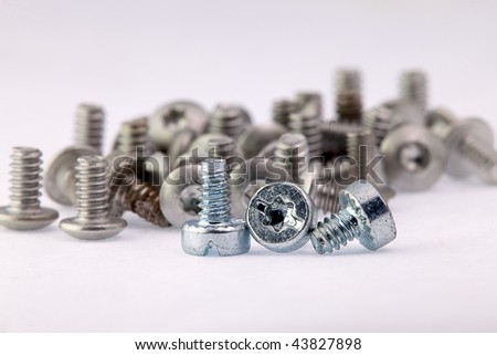Old and new screws, New employees and old employees, mean work together, both of them are very important.