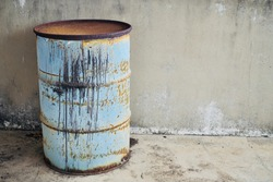 Old And Rusty Oil Barel Tank