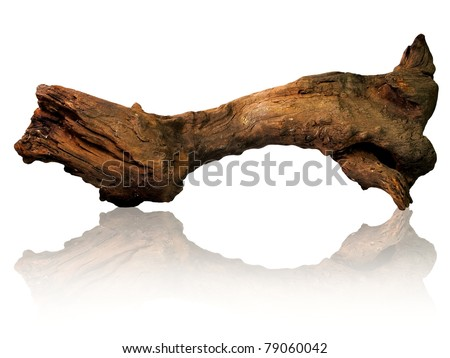 Old and rusty wooden piece for home and garden decoration #79060042