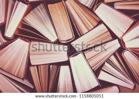 Old and used hardback books #1158805051