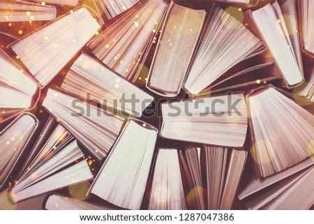 Old and used hardback books #1287047386
