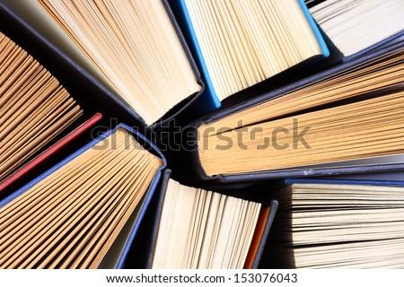 old and used hardback books or...