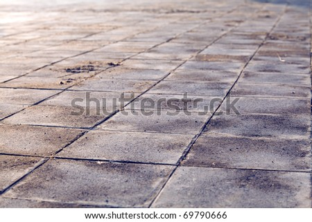 old and vintage floor tiles background