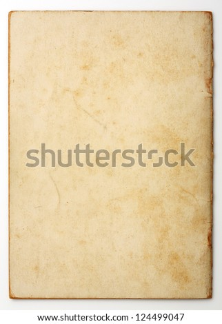 Old and weathered note paper