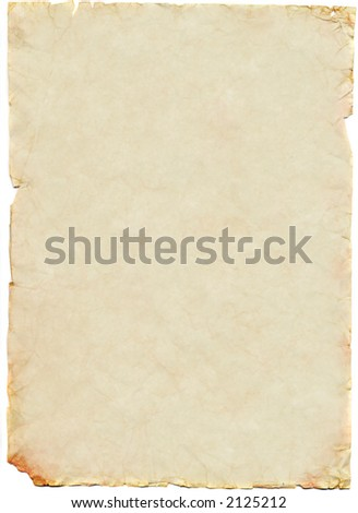Old and worn sheet of paper