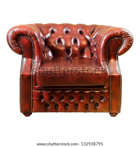 Old Antique Armchair Over The White Background