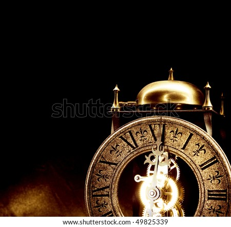 Old antique clock. - stock photo