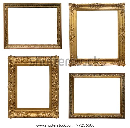 old antique frame - set of four photos