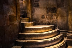 Old antique stairs in Jerusalem, Israel