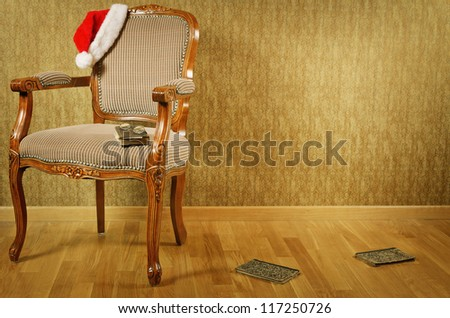 old antiques armchair with...