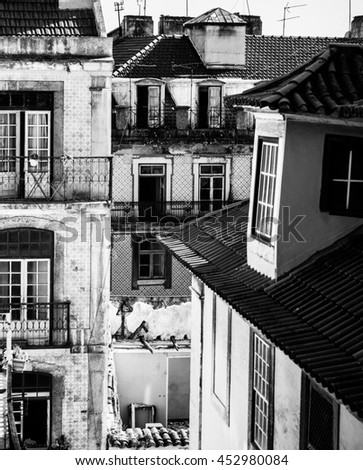 Old apartments in Lisbon #452980084