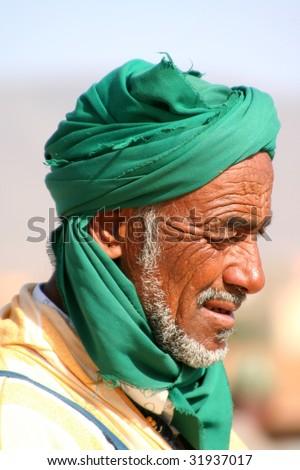 old arabian bedouin - stock photo