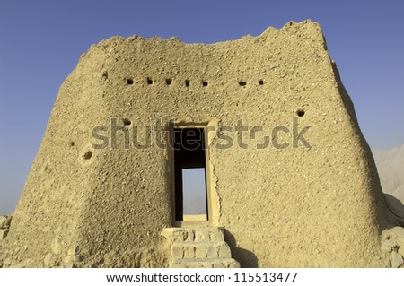 Old Arabian Fort in Ras al Khaimah United Arab Emirates