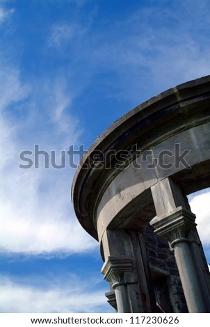 Old architectural structure under blue sky