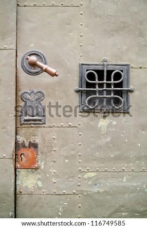 Old armored doorway.