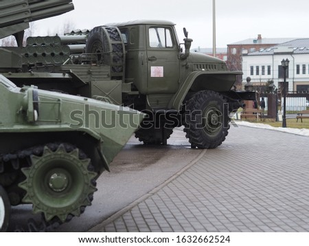 old army military troop transport truck in mud