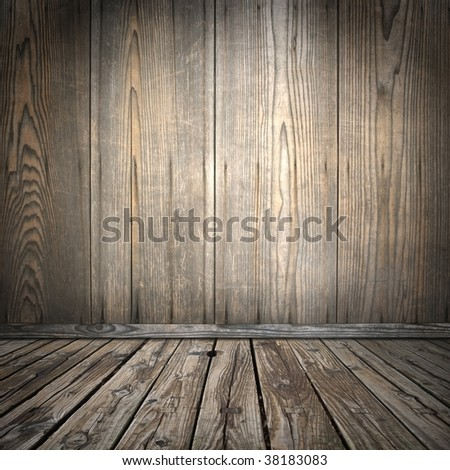 Old asian style wood room Foto stock ©